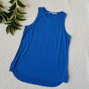 Athleta Blue Hi Low Athletic Yoga Tank Top